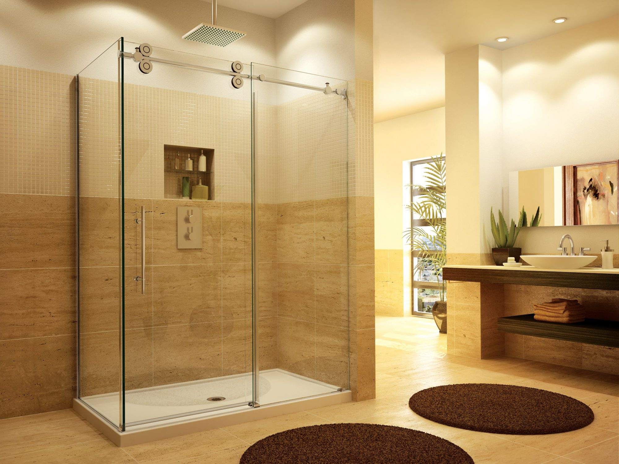 Shower Doors | All Glass Center